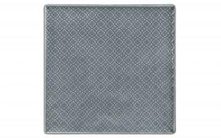 Talerz płytki kwadratowy 25,5cm Marrakesz szaro-niebieski
