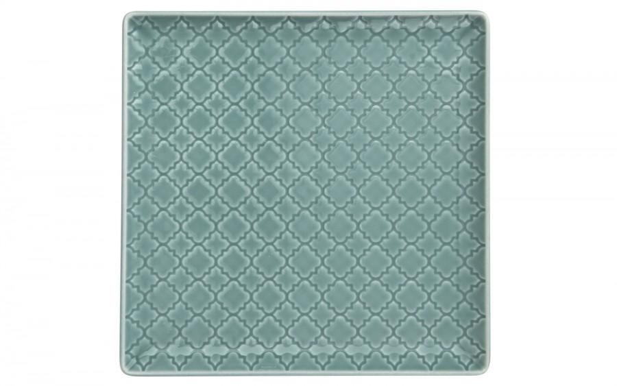 Talerz płytki kwadratowy 17cm Marrakesz morski
