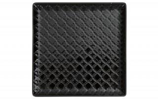 Talerz płytki kwadratowy 17cm Marrakesz czarny