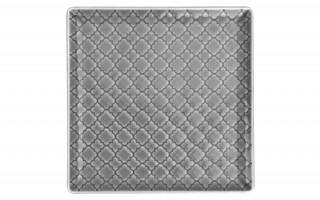 Talerz płytki kwadratowy 17cm Marrakesz szary