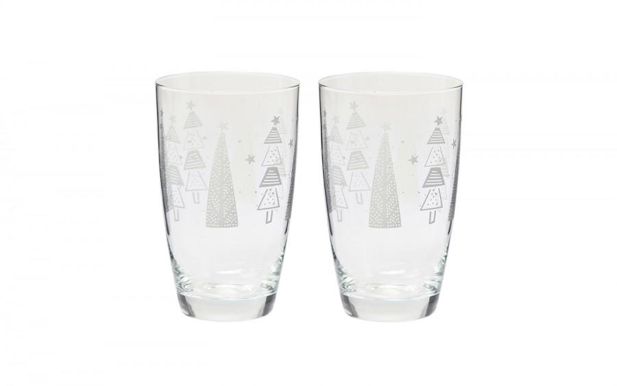 Komplet 2 szklanek 450ml Deco Tumbler Choinki