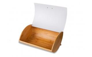 Pojemnik na chleb bambusowy Husla biały