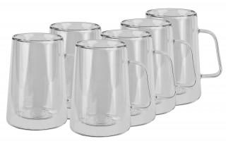 Komplet 6 szklanek 300ml z podwójną ścianką Diva