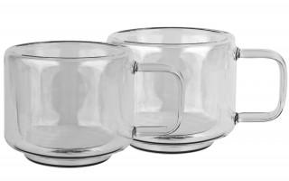 2x szklanka 200ml z podwójną ścianką Duo