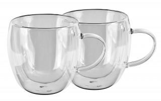 2x szklanka 250ml z podwójną ścianką Duo uszka