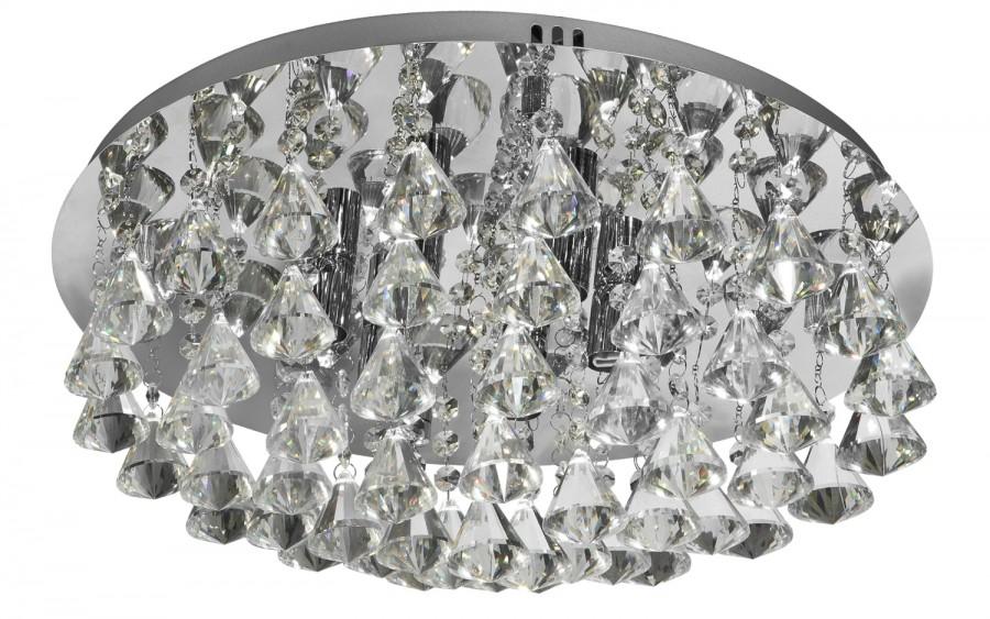 Lampa sufitowa plafon kryształowy Hanna 3303-6CC