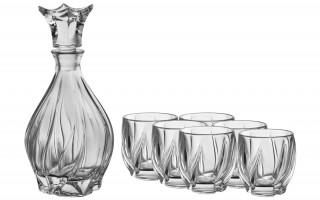 Komplet karafka i 6 szklanek Bohemia