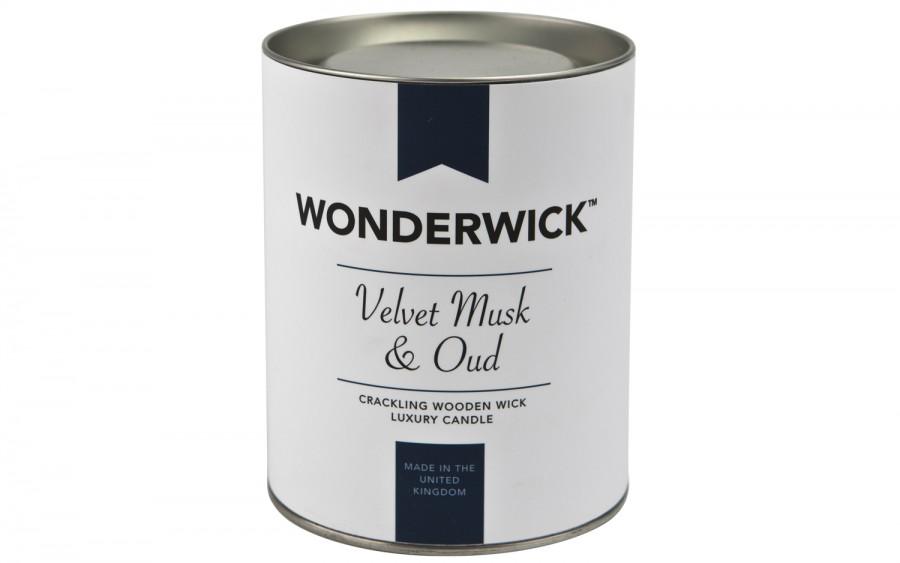 Biała świeca Velvet Musk & Oud 230 g