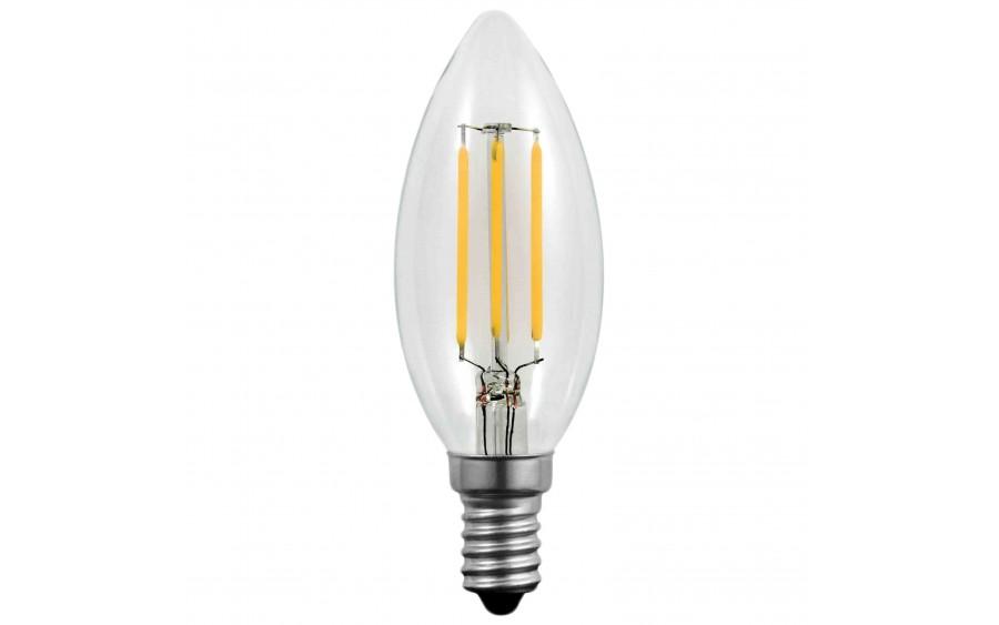 Żarówka LED świeca C37 FLM E14 5,5W Ciepła