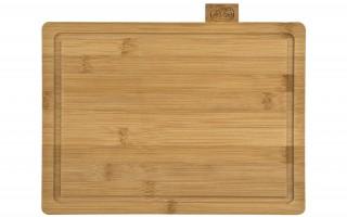 Zestaw 4 desek bambusowych w stojaku