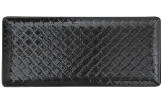 Talerz płytki prostokątny 29x13cm Marrakesz czarny