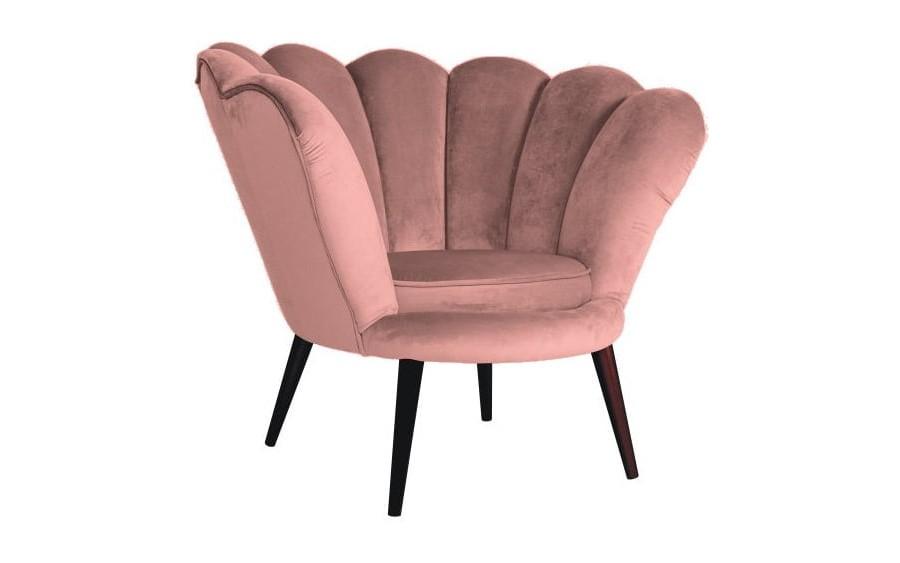 Fotel Magnolia róż antyczny