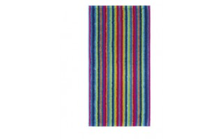 Ręcznik 30x50 cm LIFESTYLE Stripes Multicolor Dunkel