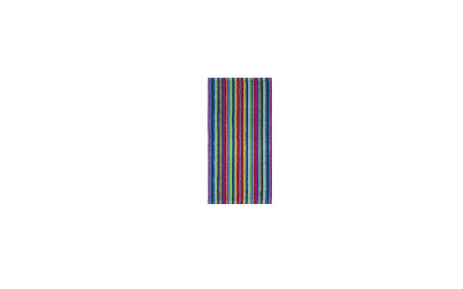 Ręcznik 30x50 cm LIFESTYLE Stripes Multicolor Dunkel