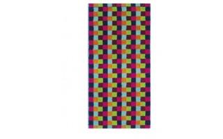 Ręcznik 30x50 cm LIFESTYLE Cube Multicolor Dunkel