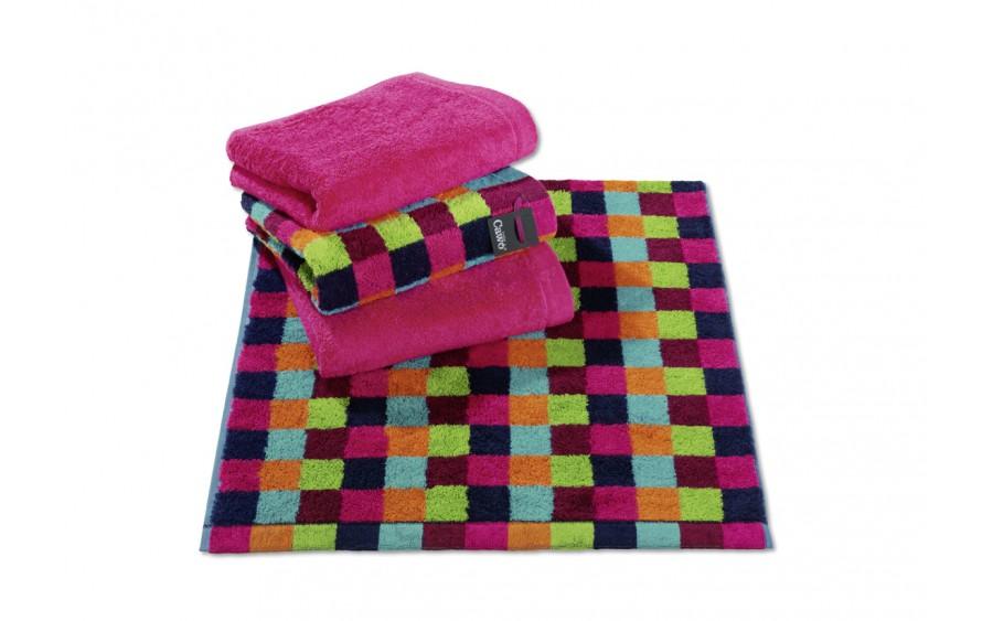 Ręcznik 70x140 cm LIFESTYLE Cube Multicolor Dunkel