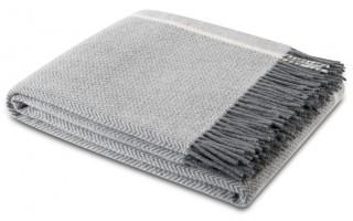 Pled z frędzlami 130x170 Herringbone Wool