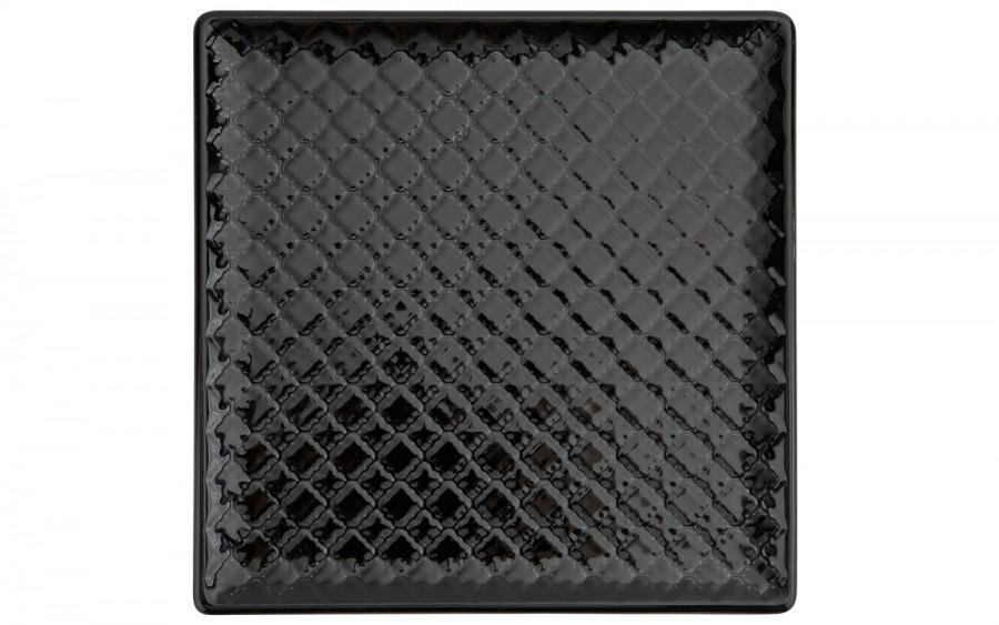 Talerz płytki kwadratowy 20,5cm Marrakesz czarny