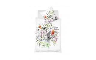 Pościel satynowa 155x200 cm White Orchid 114197