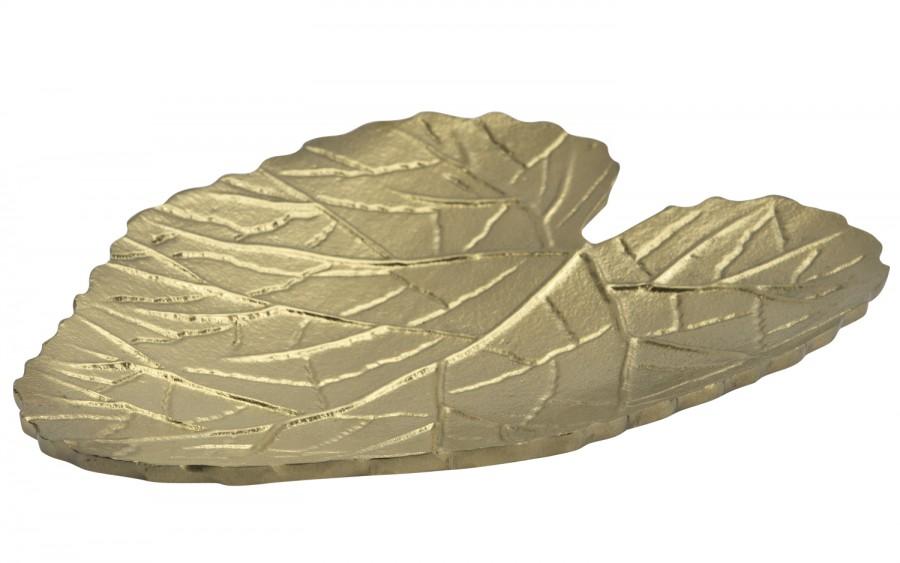Patera w kształcie liścia złota