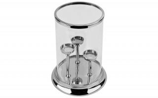 Lampion szklany okrągły 3 na świeczki