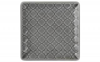Talerz płytki kwadratowy 11cm Marrakesz szary