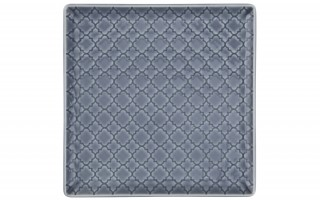 Talerz płytki kwadratowy 17cm Marrakesz szaro-niebieski