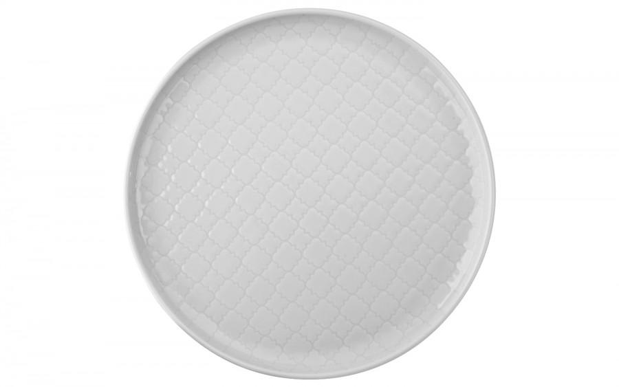 Talerz płytki deserowy 20cm Marrakesz biały