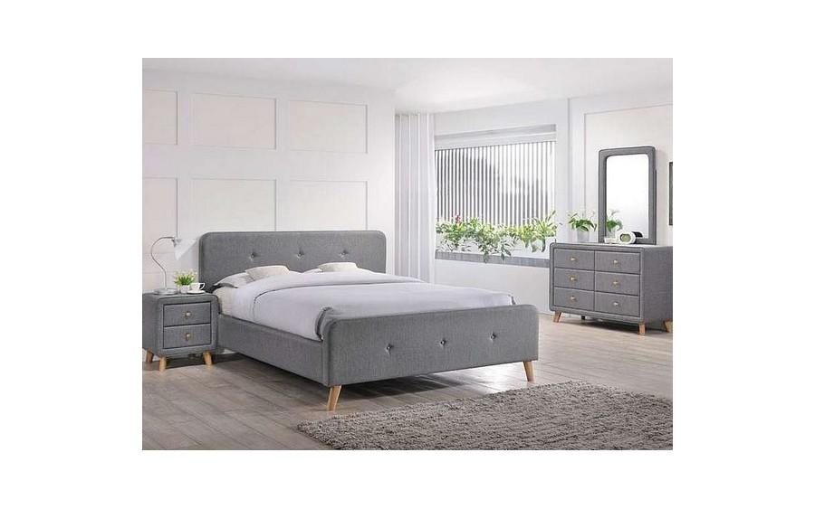 Łóżko Malmo 160x200 szary