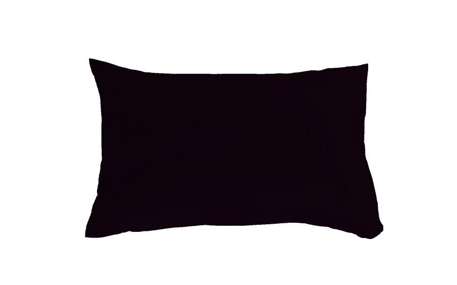 Poszewka satynowa 50x70 cm Colours czarna