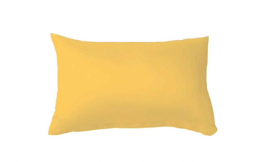 Poszewka satynowa 50x70 cm Colours żółta