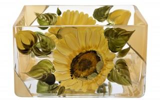 Salaterka Słoneczniki kwadratowa 8cm