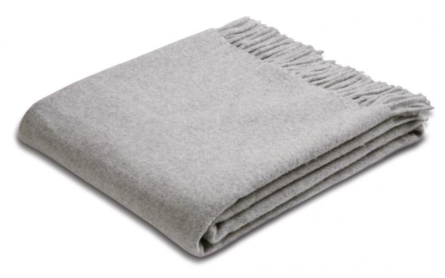 Pled z frędzlami 130x170 cm Silver Wool