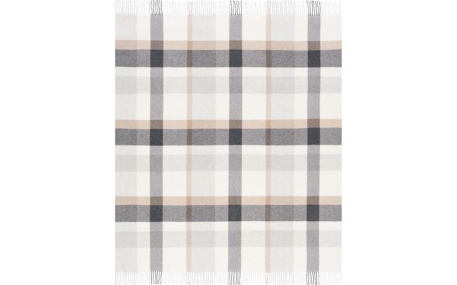 Pled z frędzlami 130x170 cm Check Wool