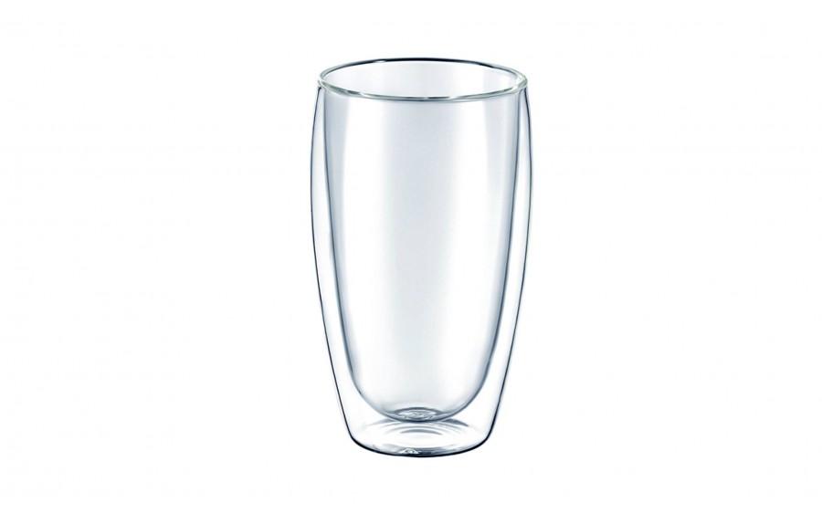 Komplet 2 szklanek 450ml Mia z podwójną ścianką