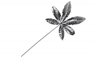 Srebrny liść dekoracyjny