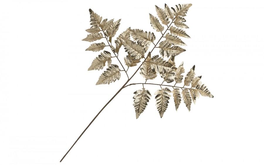 Złoty liść dekoracyjny - gałązka
