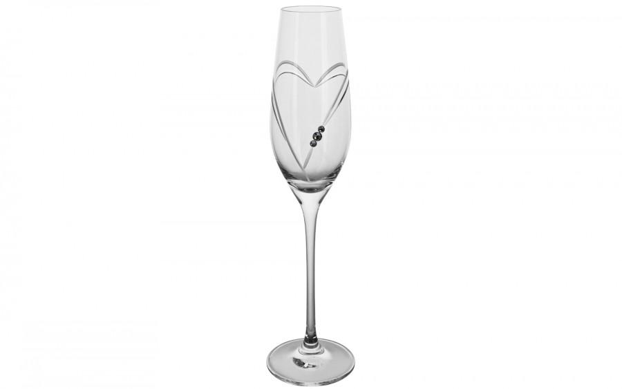 2x Kieliszki do szampana Hearts