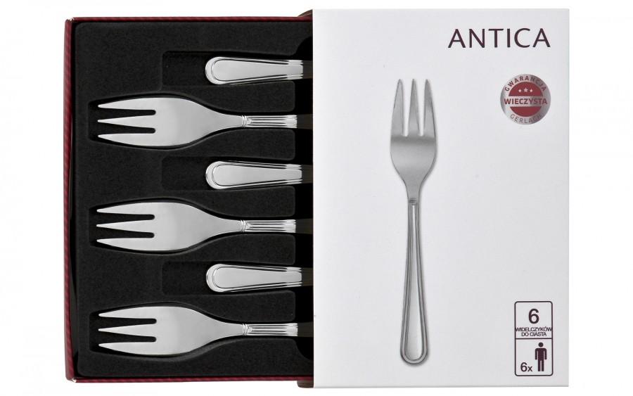 Komplet 6 widelczyków do ciasta Antica 04